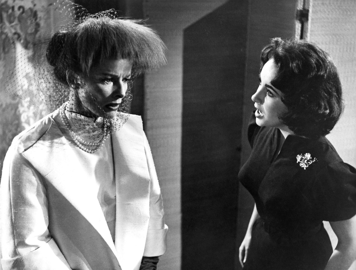 Katharine Hepburn and Elizabeth Taylor in SUDDENLY, LAST SUMMER, 1959.